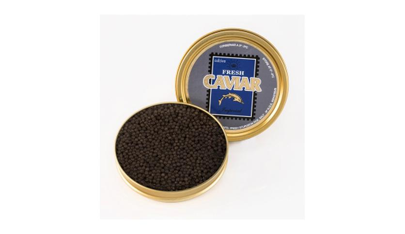 Local products Caviar Imperial 100gr. Marine Food. 1un.