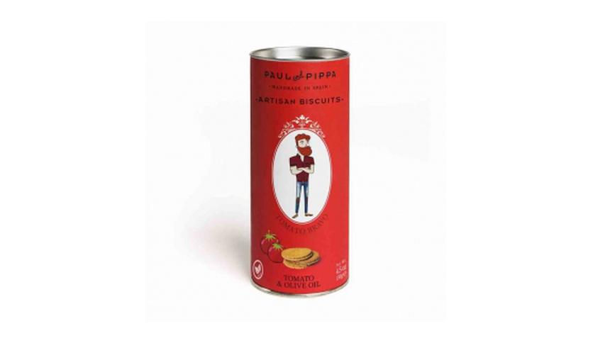 Local products Galletas Canister de Tomate 130gr. Paul & Pippa. 10un.