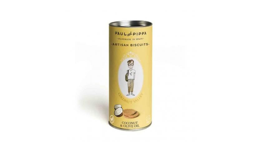 Local products Galletas Canister de Coco 130gr. Paul & Pippa. 10un.
