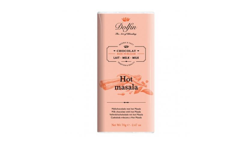 Local products Chocolate con Leche al Hot Masala 70gr. Dolfin. 15un.