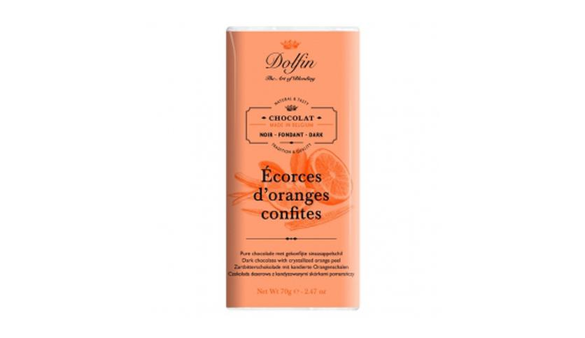 Local products Chocolate Negro a la Naranja 70gr. Dolfin. 15un.