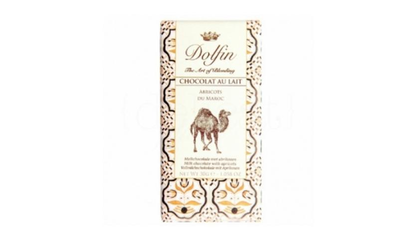 Local products Chocolate con Leche y Albaricoques de Marruecos 30gr. Dolfin. 25un.