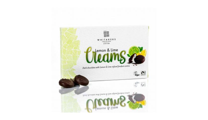Local products Lime Cremes 150gr. Whitakers Chocolates. 14un.