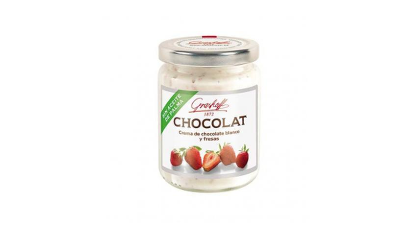 Local products Crema de chocolate blanco con fresas 250gr. Grashoff. 6un.
