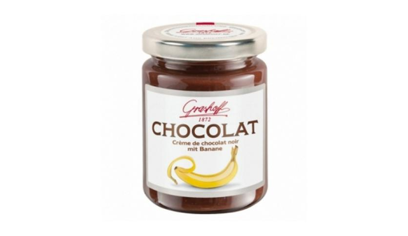 Local products Crema de chocolate negro y banana 250gr. Grashoff. 6un.