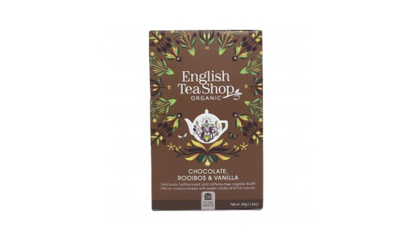 Local products Té Rooibos con Chocolate y Vainilla BIO 40gr. English Tea Shop. 6un.