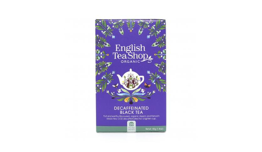 Local products Té Breakfast Descafeinado 40gr. English Tea Shop. 6un.