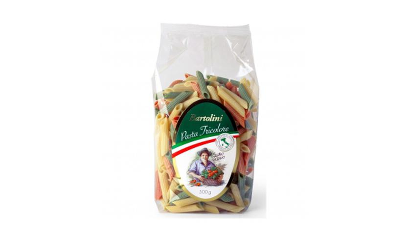 Local products Penne Tricolor 500gr. Bartolini. 12un.