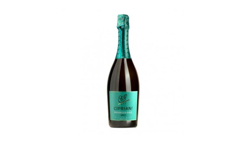 Local products Prosecco Doc Millesimato 750ml. Cipriani. 6un.