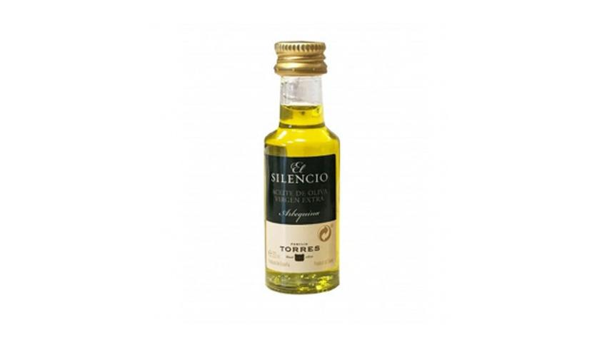Local products Aceite de Oliva Virgen Extra Arbequina El Silenci Monodosi 20ml. Torres. 200ud