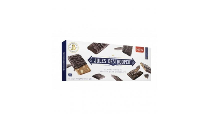 Local products Biscuits de Almendra recubierto de Chocolate Negro 100gr. Jules Destrooper. 12un.