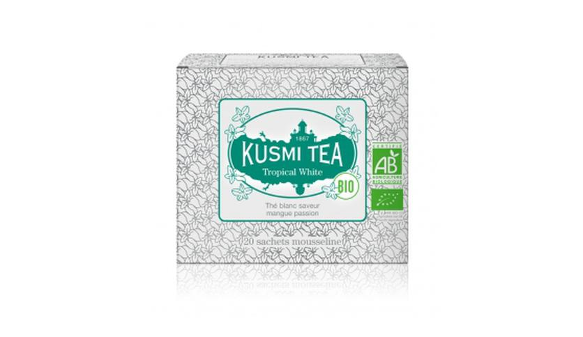 Local products Tropical White BIO 20 Muslins. Kusmi Tea. 12un.