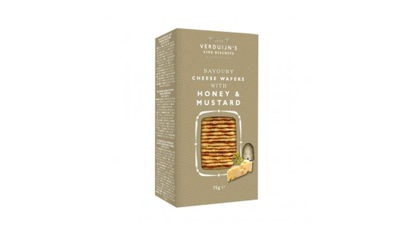 Local products Wafers con Queso, Miel y Mostaza 75gr. Verduijn's. 12uds.
