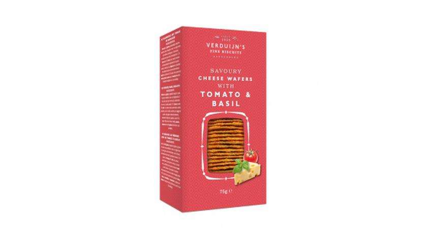 Local products Wafers con Queso, Tomate y Albahaca 75gr. Verduijn's. 12uds.