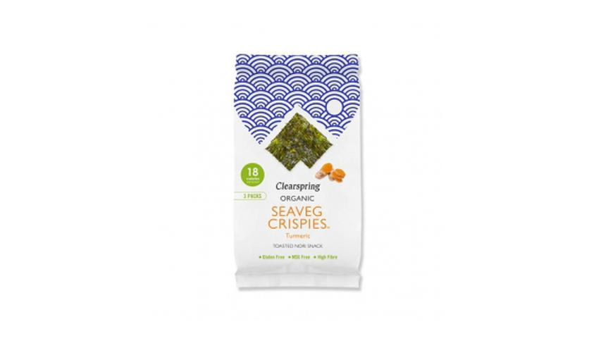 Local products Snack de Alga Nori con Cúrcuma 4gr. Clearspring. 16un.