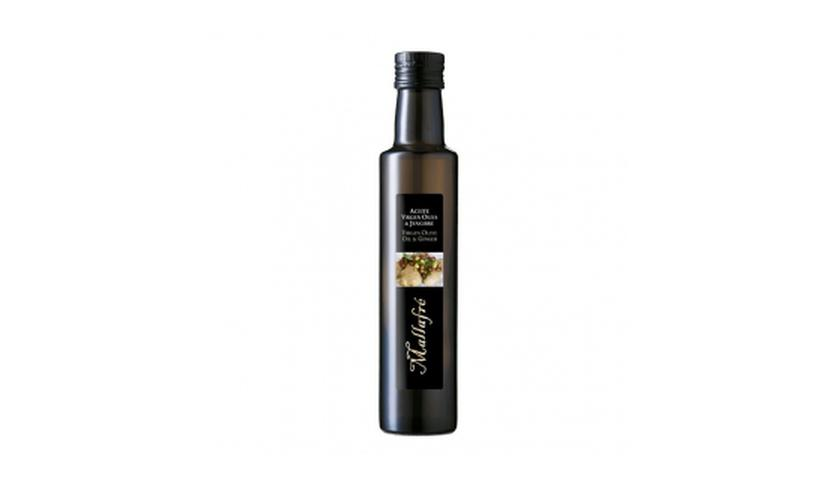 Local products Aceite de oliva virgen con Jengibre 250ml. Mallafré. 12un.