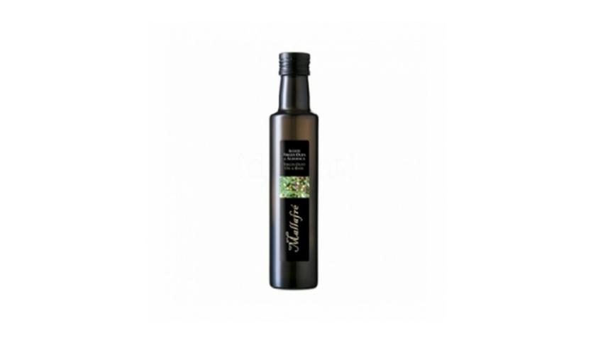 Local products Aceite de oliva virgen con albahaca 250ml. Mallafré. 12un.