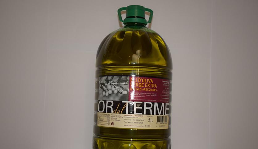 "Local products EXTRA VIRGIN OLIVE OIL PET BOTTLE 5 LT ""OR DEL TERME"""