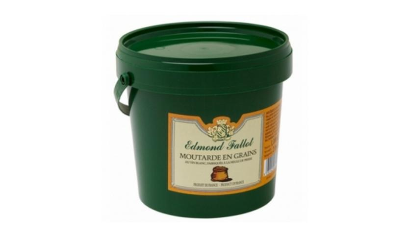 Local products Mostaza en grano 1100gr. Edmond Fallot. 12un.
