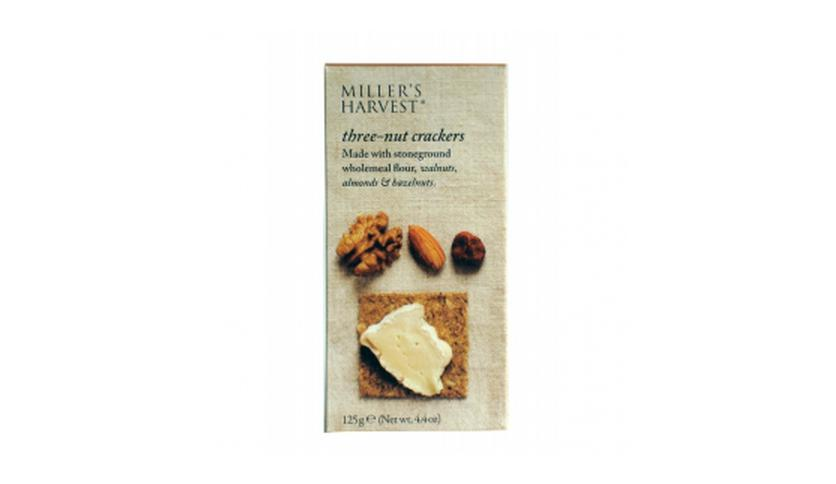 Local products Crackers con Avellanas, Almendras y Nueces 125gr. Miller's Haverst. 6un.