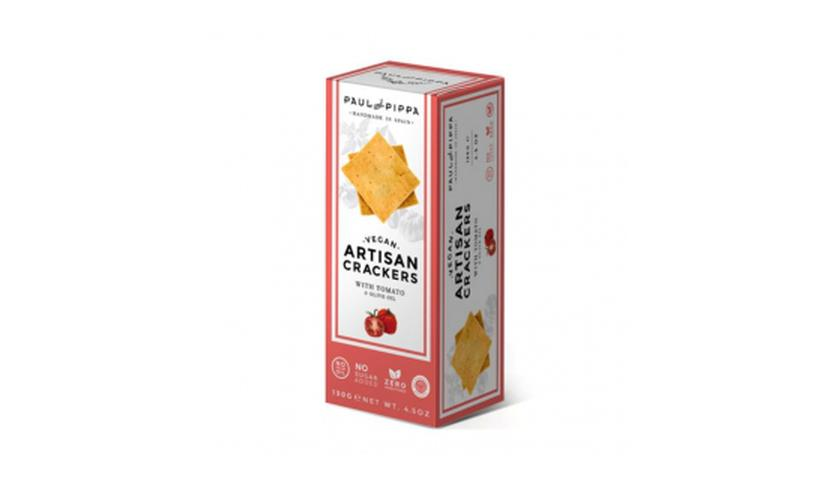 Local products Artisan Crackers con Tomate 130gr. Paul & Pippa. 10un