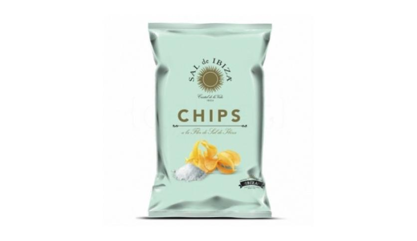 Local products Patatas chips Sal de Ibiza 45gr. Sal de Ibiza. 18un.