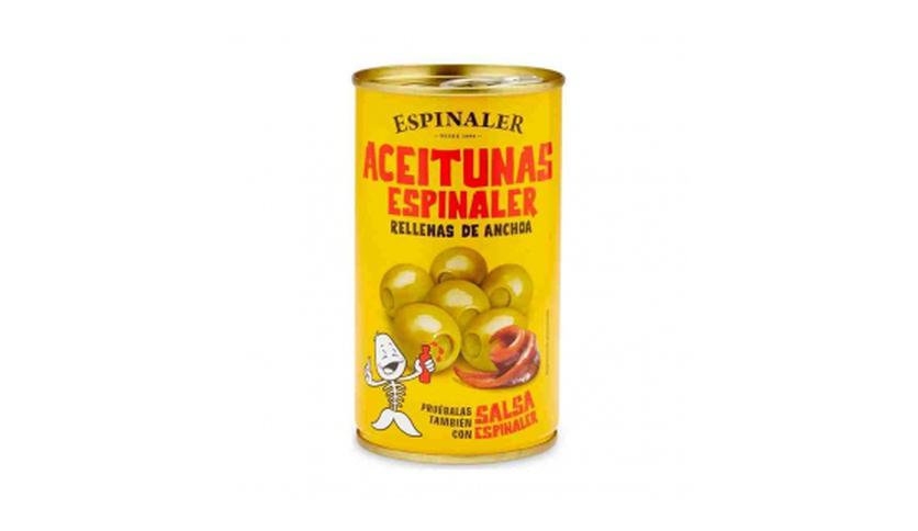 Local products Aceitunas rellenas de anchoa 350gr. Espinaler. 15un.