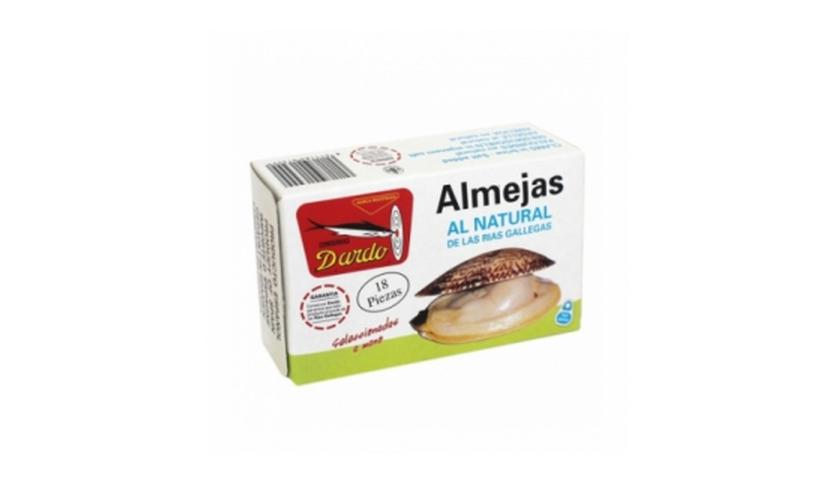 Local products Almejas al natural de Rias Gallegas OL-120, 18/20u. Dardo. 25un.