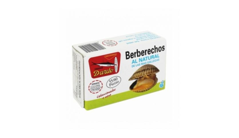Local products Berberechos al natural de Rias Gallegas OL-120, 55/60u. Dardo. 25un.