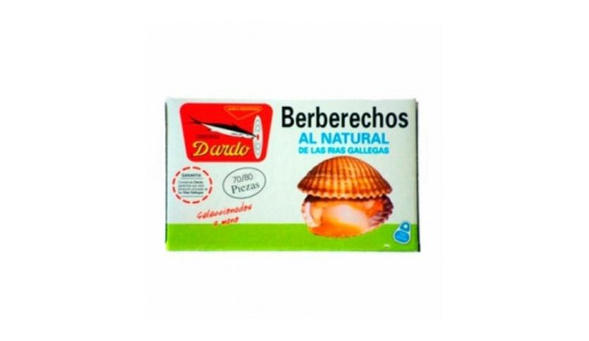 Local products Berberechos al natural de Rias Gallegas OL-120, 70/80u. Dardo. 25un.