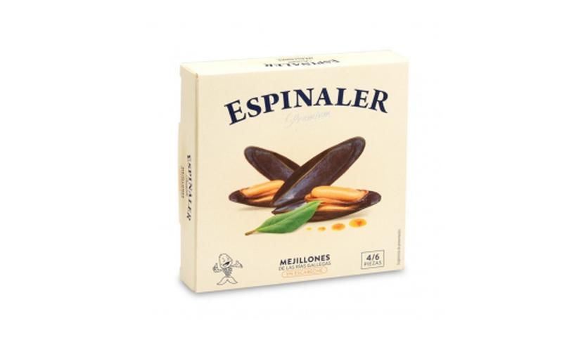 Local products Mejillones en escabeche OL-120 (4/6 piezas). Espinaler. 25un.